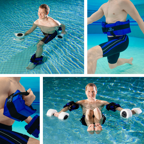 Working out with HYDRO-FIT Cuffs in deep water
